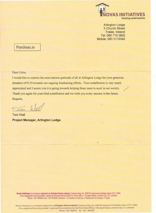 Arlington House Letter0001