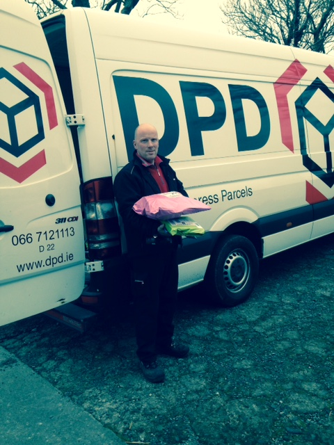 d239f21b9d92e7 Our local driver Ken from DPD kindly agrees to step in for a photo to  celebrate our free delivery in february offer