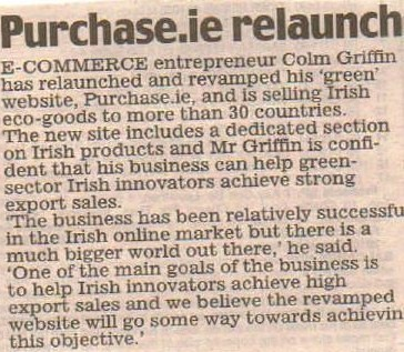 Feature on Purchase.ie in the Irish Daily Mail