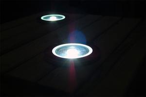 Solar-Round-Decking-Lights-Working