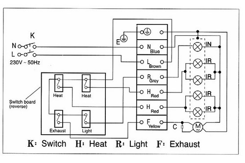 wiring diagram for bathroom fan heater bathroom heater wiring Multiple Bathroom Fans One Breaker Wiring