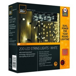 Dual Power Outdoor Fairy Lights